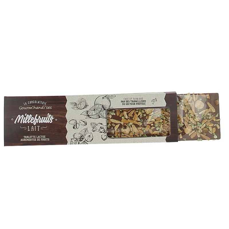 Tablette de chocolat au lait Gourm'handi'ses - 140g