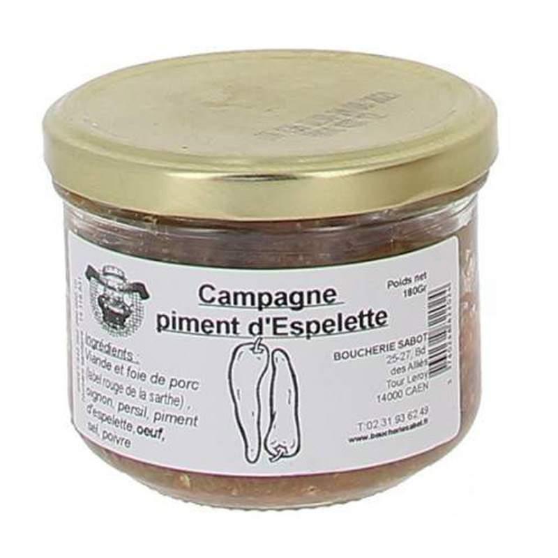 Terrine de campagne au piment d'espelette sabot