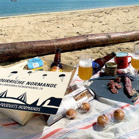 Bourriche fête des pères à la plage en Normandie