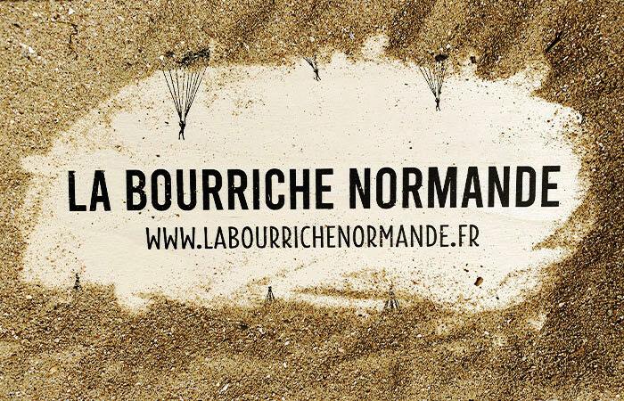 Couvercle de la bourriche normande sous le sable
